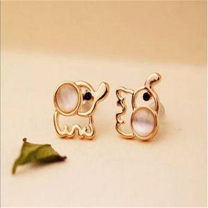 Gold Filled Baby Elephant Earrings
